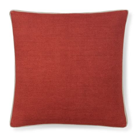 Solid Coral Pillows by Solid Linen Pillow Cover With Gusset Coral Williams Sonoma