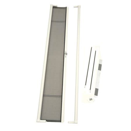 outswing patio doors with retractable screens odl brisa white retractable screen for 96 quot inswing