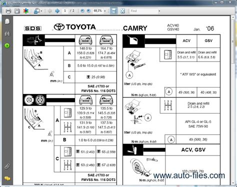 tire pressure monitoring 2011 toyota camry user handbook toyota camry v40 rus repair manuals download wiring diagram electronic parts catalog epc