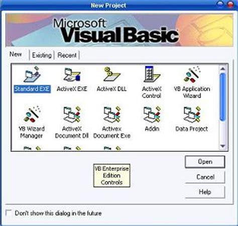 design menu in vb6 visual basic 6 getting started ide menu bar toolbox