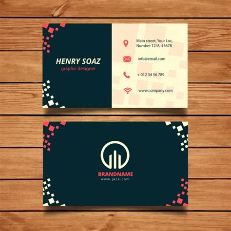 buisness cards templates business card template with squares vector free