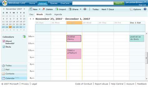 Windows Live Calendar Windows Live Calendar Nejlepš 237 Kalend 225 ř Maxiorel Cz