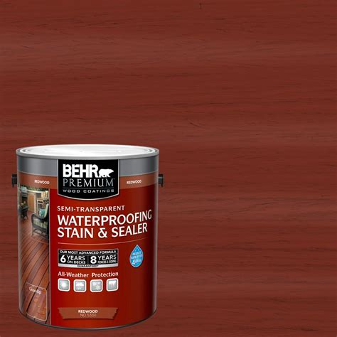 behr premium  gal st  redwood semi transparent