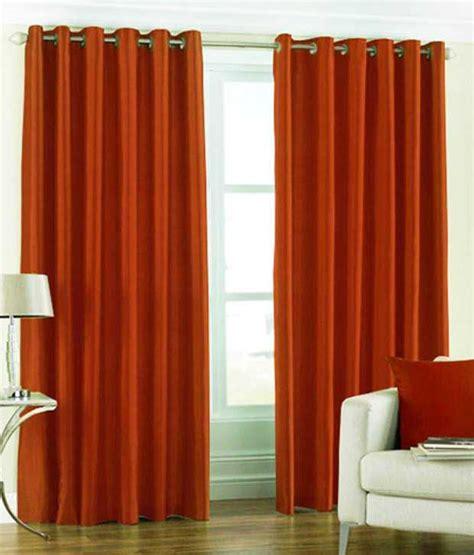 orange window curtains mitra orange window curtain combo of 3 buy mitra