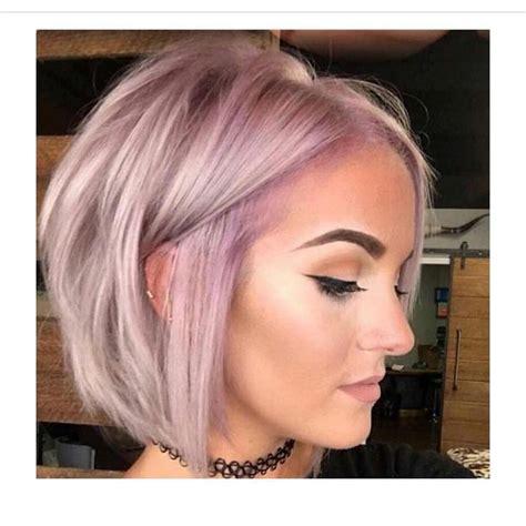 killer pink  lilac hair color atop  beautiful bob