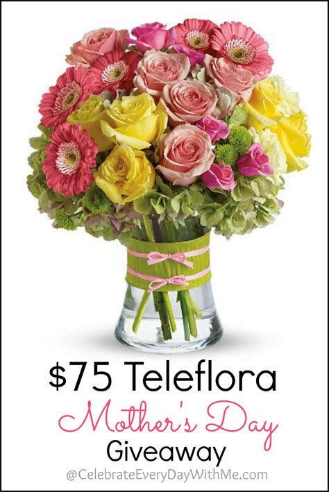 Mother S Day Giveaway - teleflora 75 mother s day giveaway teleflora discount code for readers