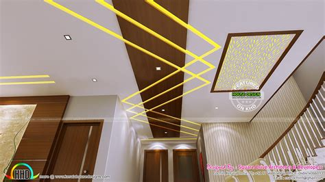 false ceiling bedroom and dining interiors kerala home