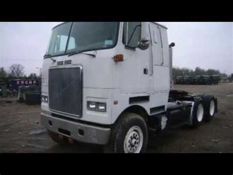volvo cabover trucks 1989 volvo cab over semi truck on govliquidation com youtube