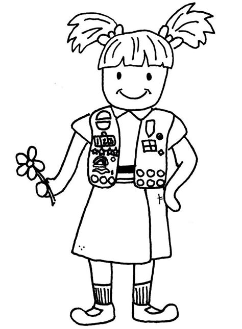 Daisy Girl Scout Coloring Pages Coloring Home Scout Coloring Pages For Daisies Printable
