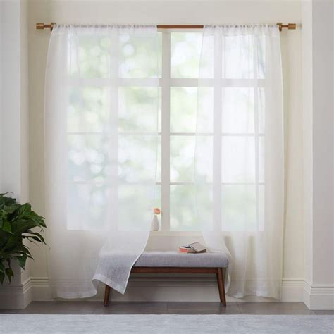 sheer linen drapery panels uk sheer linen curtain ivory guest room pinterest