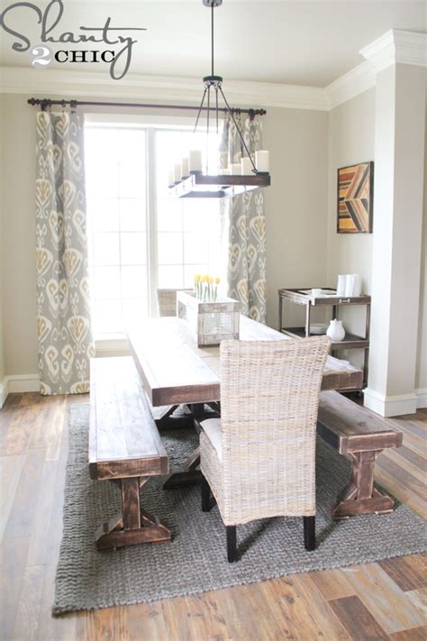 my dining table diy benches for my dining table shanty 2 chic