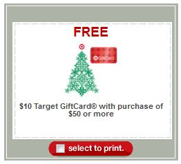 Target Buy 50 Get 10 Gift Card - target 10 gift card when you buy 50 by 12 3 frugal living nw