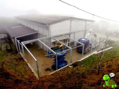 tettoia pvc tettoie in ferro copertura in pvc industriale modena