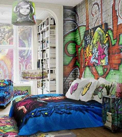 graffiti wallpaper and bedding street room graffiti wallpaper bedroom kids room boys