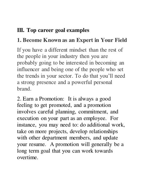 tell us about your educational and career goals and objectives top 10 career goal exles