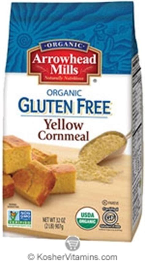whole grain yellow corn gluten free arrowhead mills kosher organic yellow corn meal gluten