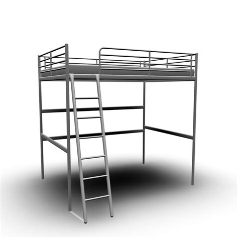tromso loft bed frame troms 214 loft bed frame design and decorate your room in 3d