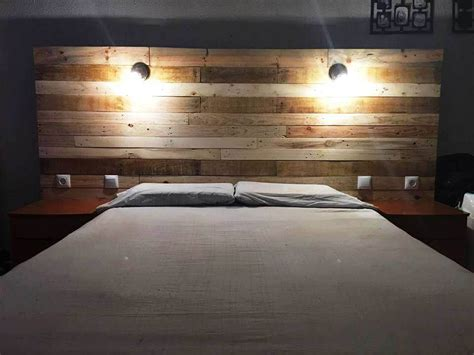 Headboard With Lights Pallet Headboard With Lights