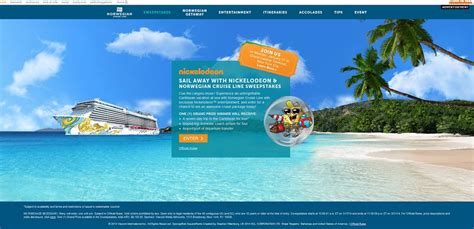Nickelodeon Cruise Sweepstakes - nickjr com norwegian sail away with nickelodeon