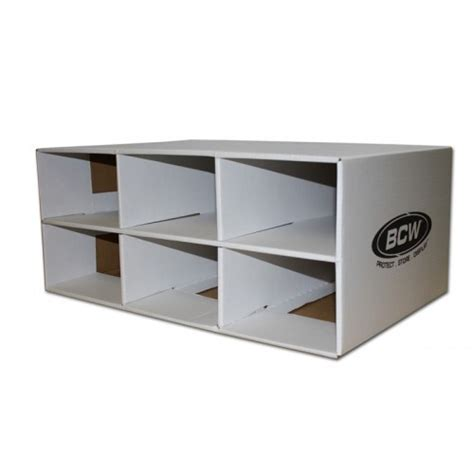 shoe box house bcw corrugated cardboard shoe box storage house for 6 trading card 2 row boxes