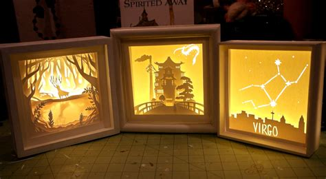 Diy Paper Cut Light Box Chezlin Papercut Lightbox Template