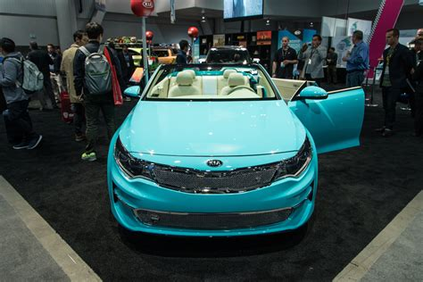 kia convertible convertible 2016 kia optima concept heads to sema