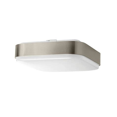 Light Fixtures Home Depot Ceiling Hton Bay 11 In Brushed Nickel Led Ceiling Square Flushmount 54640141 The Home Depot