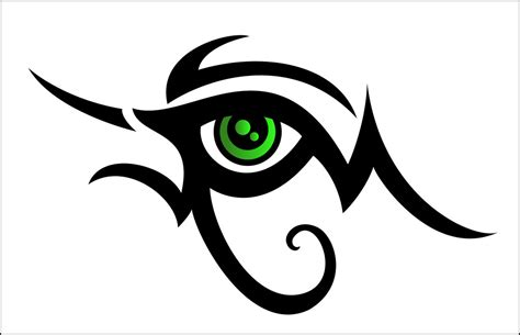 tribal eye tattoos tribal design