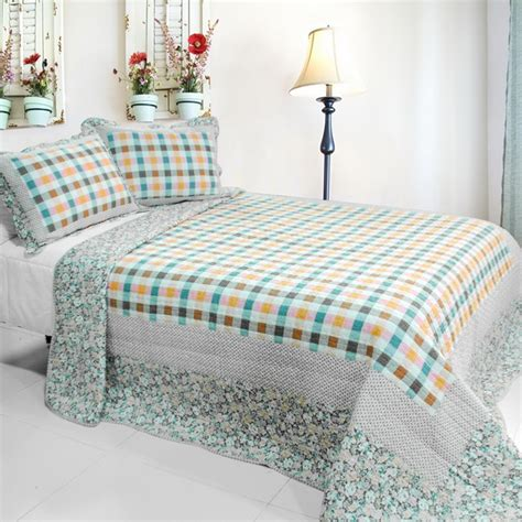 nice bedding sets nice jane cotton vermicelli quilted printed quilt set