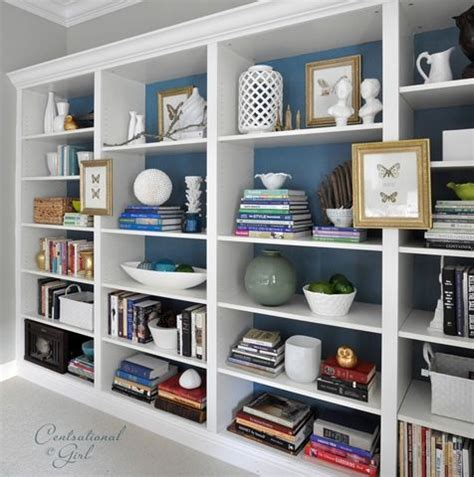 how to make faux built ins using ikea billy shelving trim