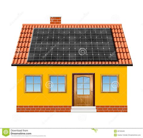 solar panel house plans small house with solar panel royalty free stock images image 26752949