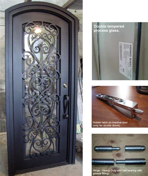 Design Of Iron Door by Forged Iron Entry Doors Custom Designed Exterior Iron