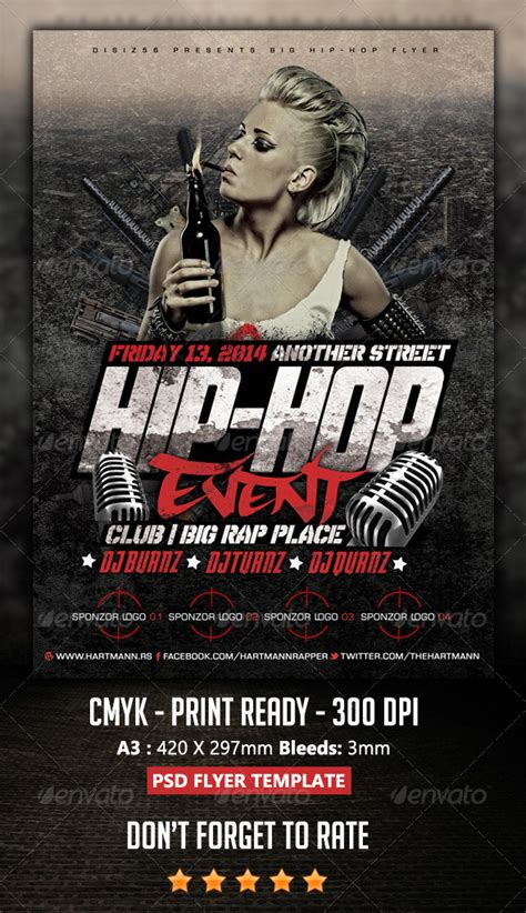 template flyer hip hop hip hop flyer by hartmanns graphicriver