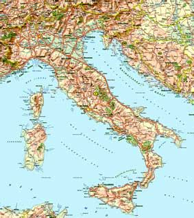 mari che bagnano l italia italia fisica