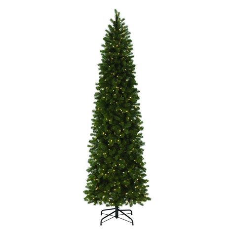 pre lit multi color led slim christmas tree martha stewart living 9 ft indoor pre lit led downswept douglas fir slim artificial