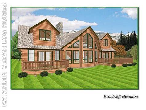 house plans with lake views lakeview cedar log home floor plan katahdin house plans