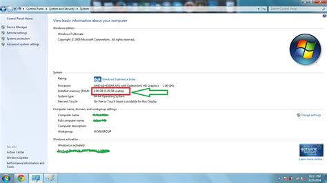 Laptop Ram 4gb Windows 7 memory windows 7 x64 3 2gb ram usable instead of 4gb installed user