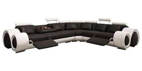 black and sectional sofa 4087 black and white leather sectional sofa with recliners