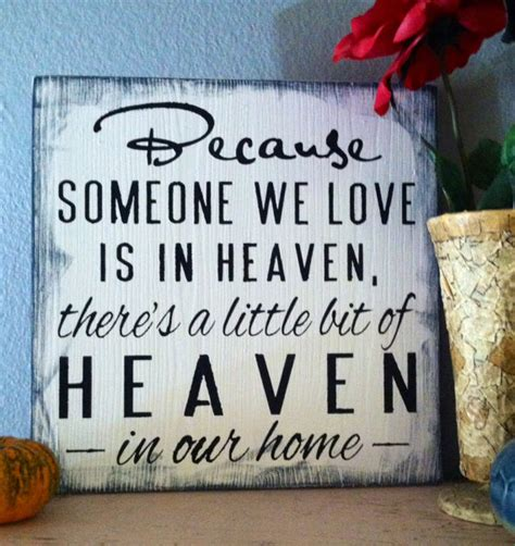 christmas ideas fpr someone who lost a loved one items similar to because someone we is in heaven there s a bit of heaven in our