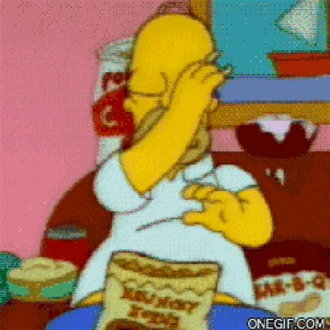 hot chips gif the 20 best gifs of homer simpson stuffing his face