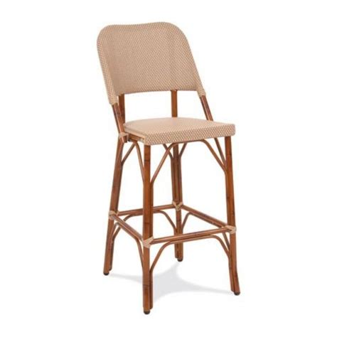 Bamboo Bistro Chairs Gar Products 30 Inch Seaside Collection Resin Wicker Bar Stool Bamboo Bistro Chairs At