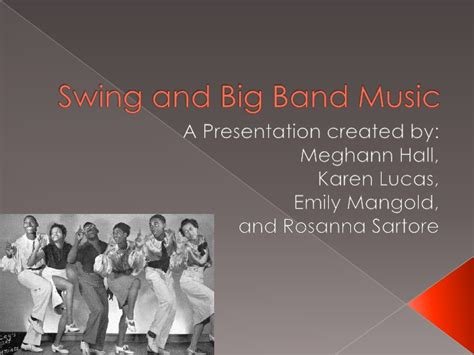 swing big band music swing and big band music