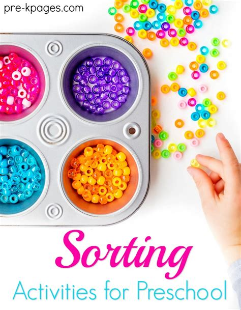 sort colors preschool sorting activities