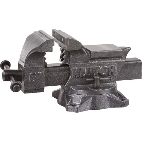 bench vises heavy duty klutch heavy duty bench vise 6in jaw width bench vises northern tool equipment
