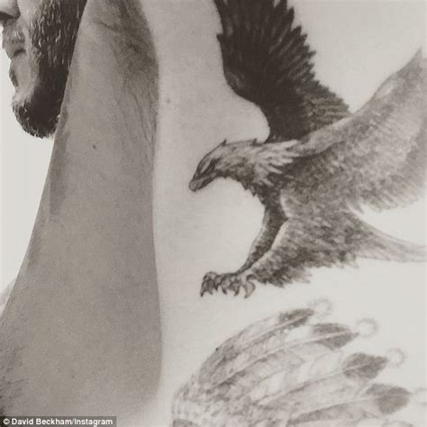 david beckham tattoo painting david beckham reveals new eagle wings tattoo on instagram