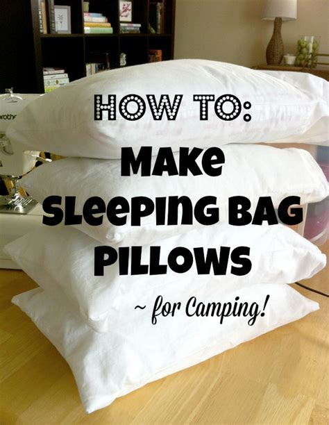 How To Make A Paper Pillow - make sleeping bag pillows for cing make and takes