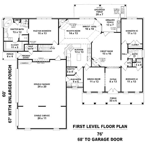 2300 Sq Ft House Plans Traditional Style House Plan 3 Beds 2 5 Baths 2300 Sq Ft Plan 81 13826