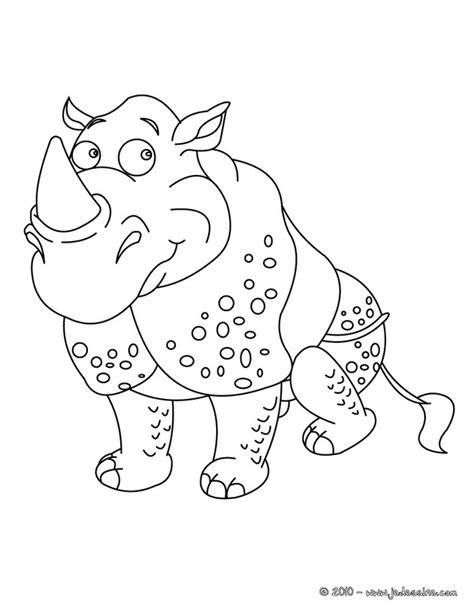 118 dessins de coloriage Rhinocéros à imprimer