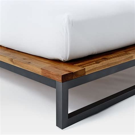 industrial platform bed logan industrial platform bed natural west elm
