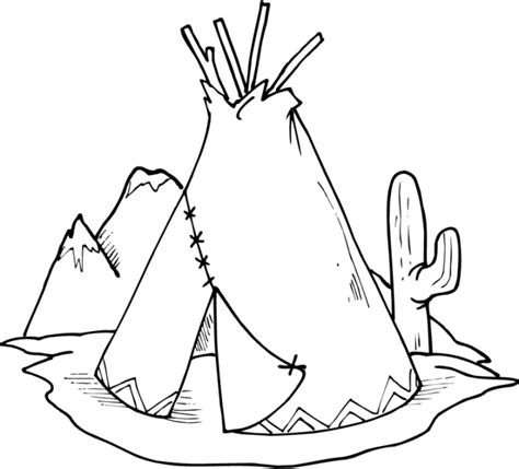 wigwam coloring pages